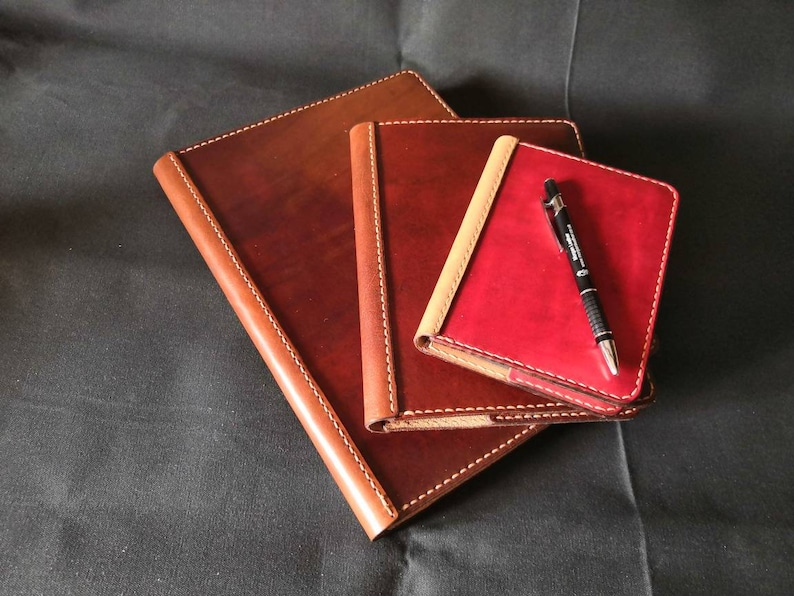 A4 A5 or A6 Luxury British Cowhide Leather Notebook Cover. image 0