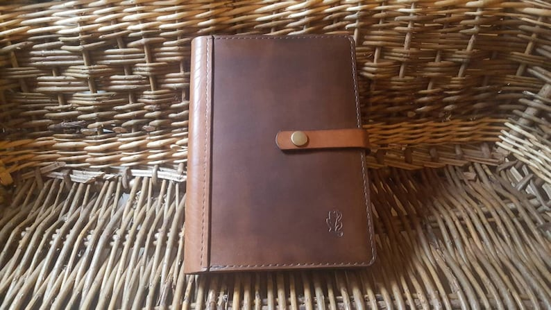 A5 or A6 Luxury British Cowhide Leather Notebook Cover with image 0