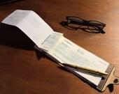 Chequebook Wallet - leather