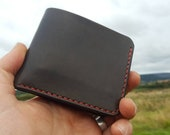 Leather Bifold Wallet for cards and notes - 5 pockets - made to order
