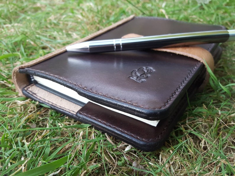 A5 or A6 Luxury British Oak Bark Tanned Leather Notebook Cover image 0