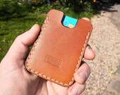 Leather card wallet. Pocket size. Minimal and simple. In stock and ready to post