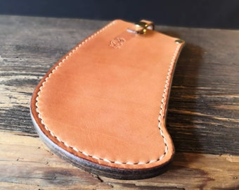 Sparhook Sheath/ Cover - hand made in the UK using British leather