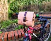 Bike bar bag leather shoulder strap and handle