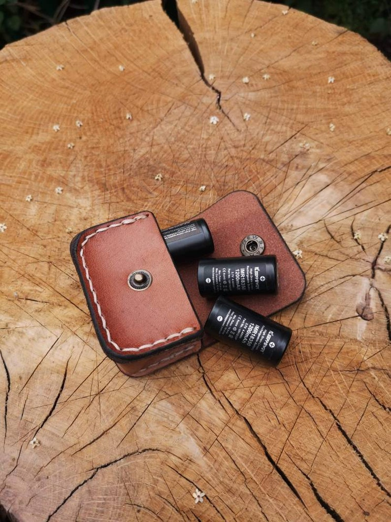 Battery pouch for vaping and torches Italian Amber
