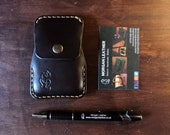 Leather card and bank notes wallet. Pocket size READY TO POST