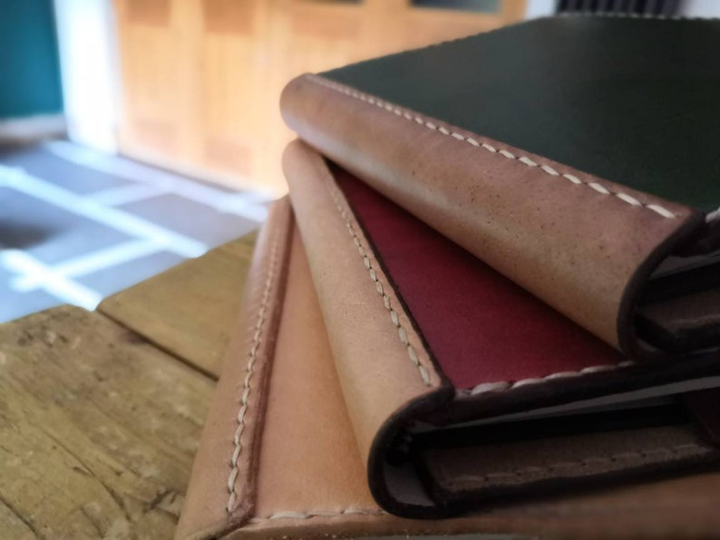 A5 or A6 Luxury British Cowhide Leather Notebook Cover. READY image 0