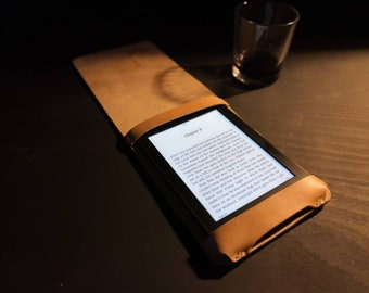 Kindle Paperwhite Case - made from genuine British cowhide Leather - vertical flap