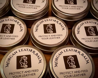 Morgan Leather Balm - Nourishes and Protects Leather. READY TO POST