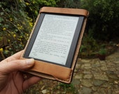 Kindle Paperwhite British Leather Case - side flap