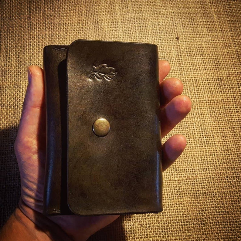 Leather purse for coins notes and cards. READY TO POST image 0