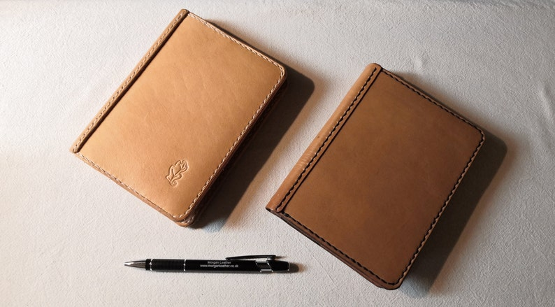 A6 Leather Notebook Cover Natural British Cowhide Un-dyed image 0