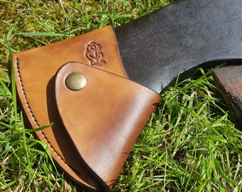 Leather Axe Sheath - Custom made from British leather