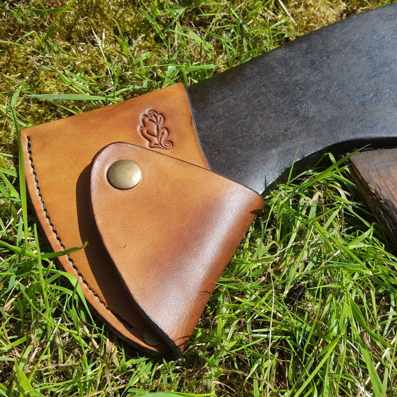 Leather Axe Sheath  Custom made from British leather image 0