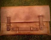Laptop portfolio, side handle, carry under the arm, European leather