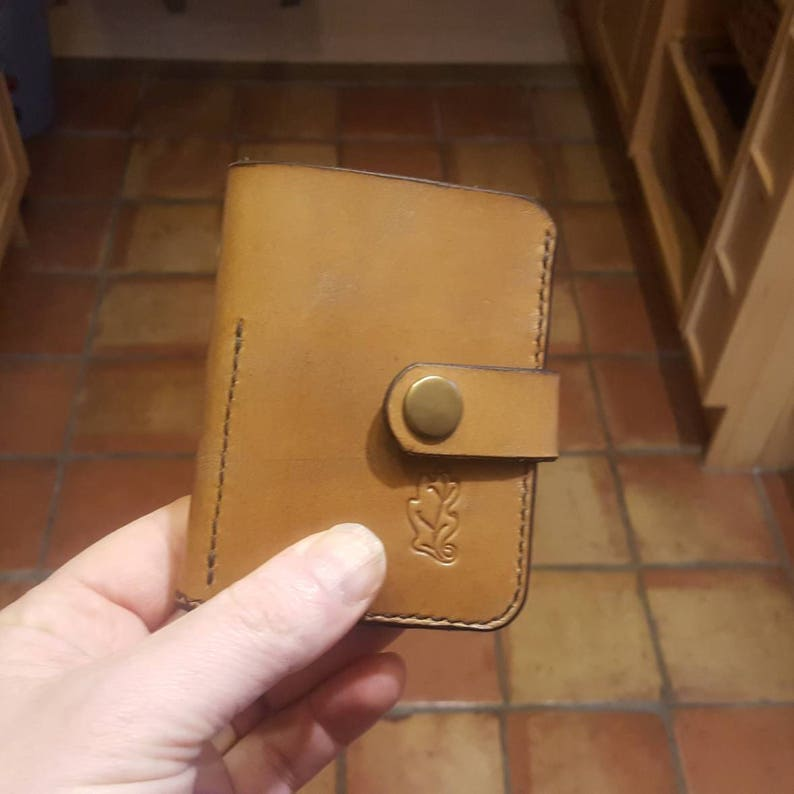 Natural Cowhide Leather Key and Money Wallet image 1