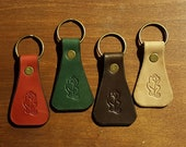 Morgan Leather Key Fobs with Oak leaf stamp. READY TO POST