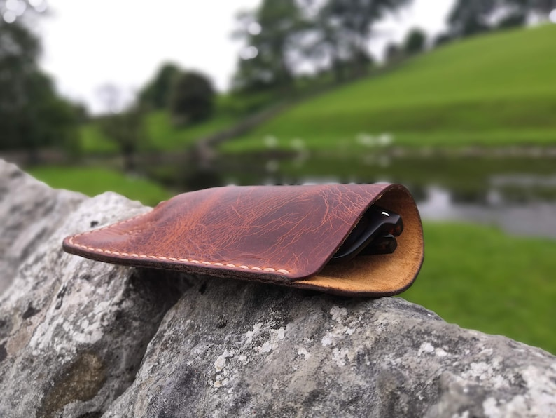 Italian leather glasses case  READY TO POST image 1