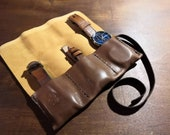 Soft leather watch roll