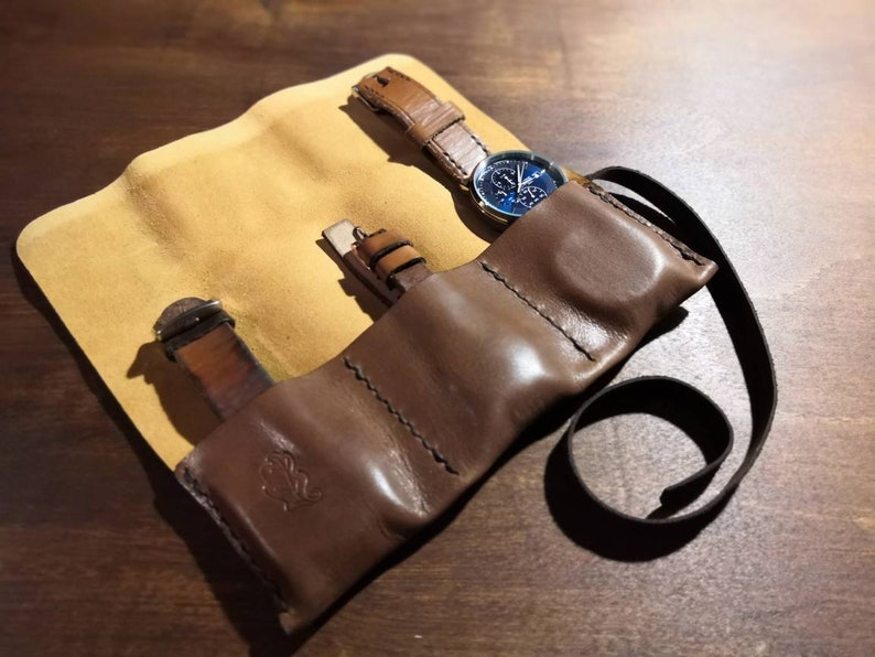 Soft leather watch roll image 0
