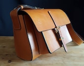 The Oak Bag - London Colour Oak Bark Tanned Cowhide Bag - made in England by hand