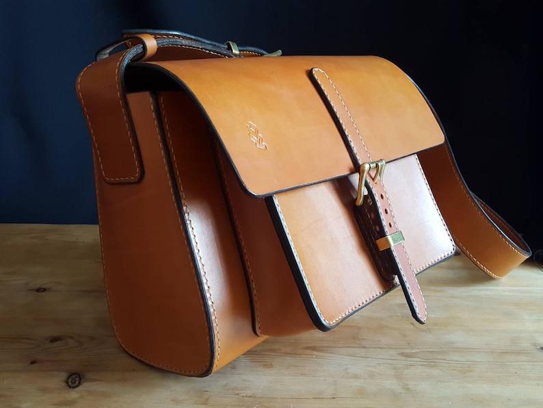 The Oak Bag  London Colour Oak Bark Tanned Cowhide Bag  made image 0
