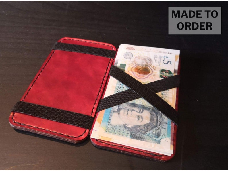 Magic Wallet handmade from European Leather image 1