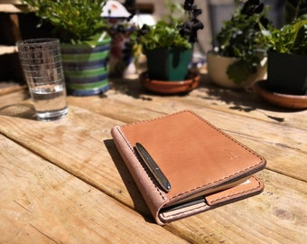 A4, A5 or A6 Luxury British Oak Bark Tanned Leather Notebook Cover