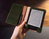 Kindle Paperwhite British Leather Case with closure strap and side flap