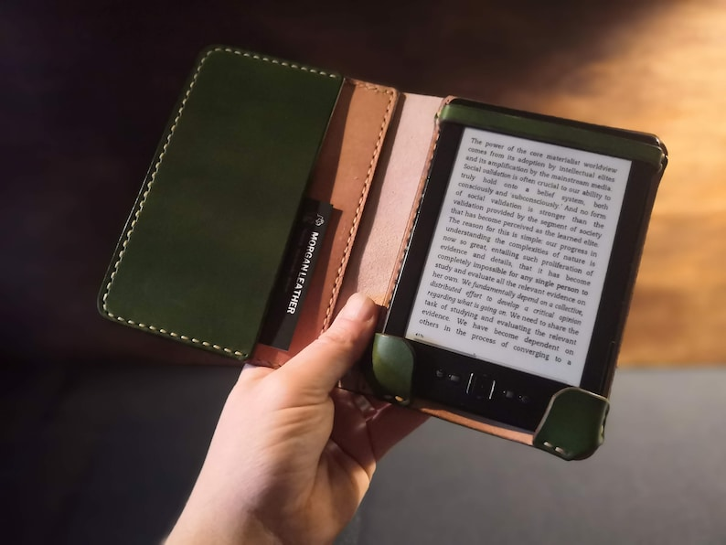 Kindle Paperwhite British Leather Case with closure strap and image 0