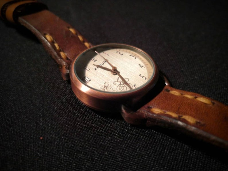 Kahuna Watch with Oak Bark Tanned Leather watch strap  READY image 0
