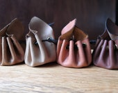 Leather drawstring coin purse READY TO POST