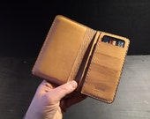 Phone Wallet made from Leather for cards and notes  - made to order