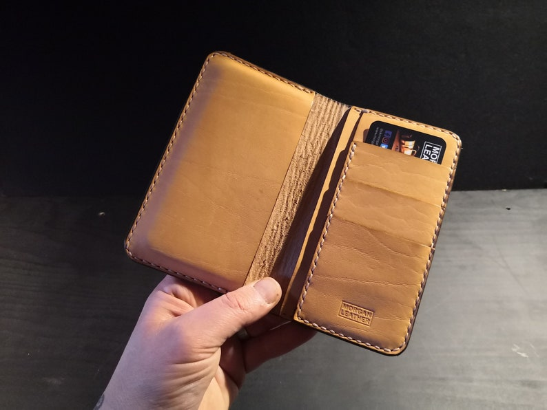 Phone Wallet made from Leather for cards and notes   made to image 0