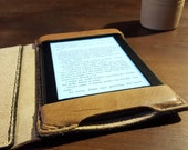 Boox Nova eReader Genuine Leather Case book style with a side flap