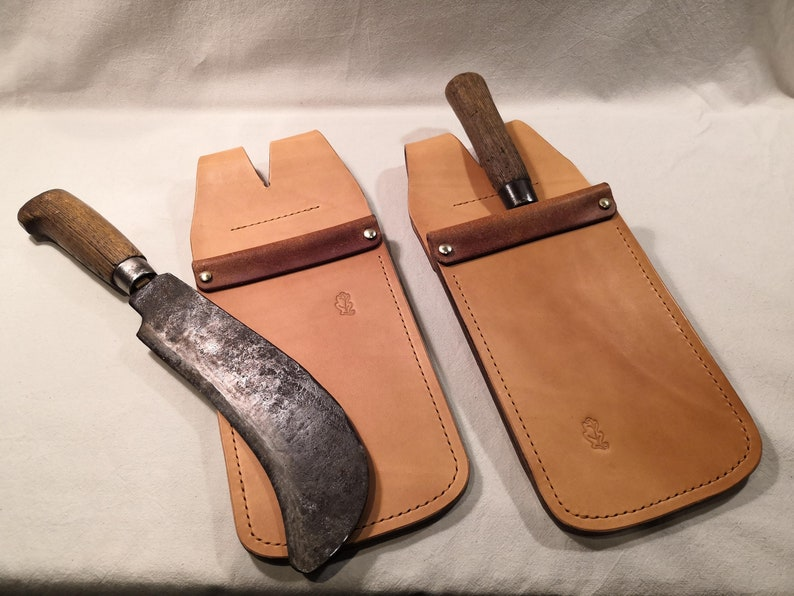 Billhook Sheath / Holster  fold-over opening  hand made in image 0