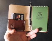"""Small Rite in the Rain Notepad book with pocket - British Leather 3""""x5"""""""