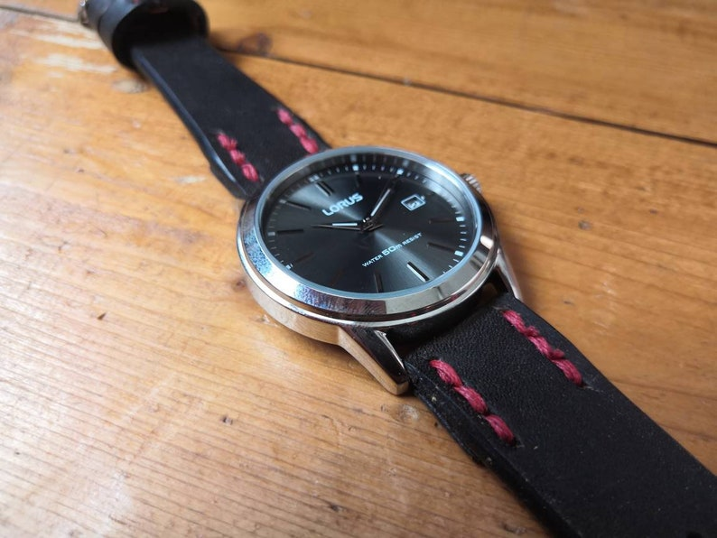 Lorus Watch with Oak Bark Tanned Leather watch strap READY TO image 1