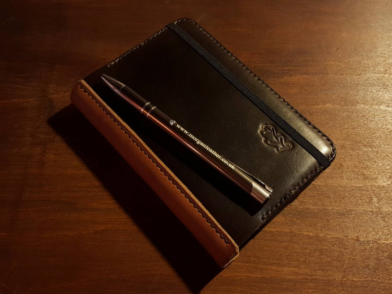 Leather Moleskine Cover for Classic Pocket Size Notebook. Dark brown