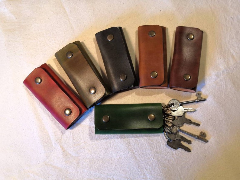 British Leather Key Wallet READY TO POST  protect your pocket image 0