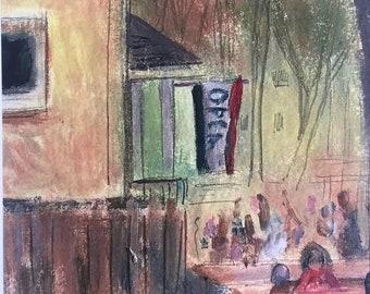 5x7 inch Art Print Cedar House Cafe Philadelphia