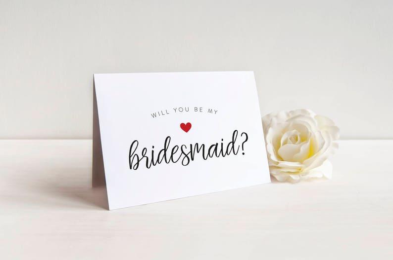 Maid of Honor Bridesmaid Card Bridesmaid Proposal Bridesman Wedding Card SALE Cute Will you be my Bridesmaid Card Bridal Party Card