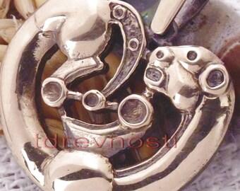 Scythians. Scythian Panther talisman bronze amulet pendant