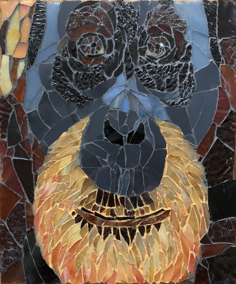 Orangutan stained glass piece image 0