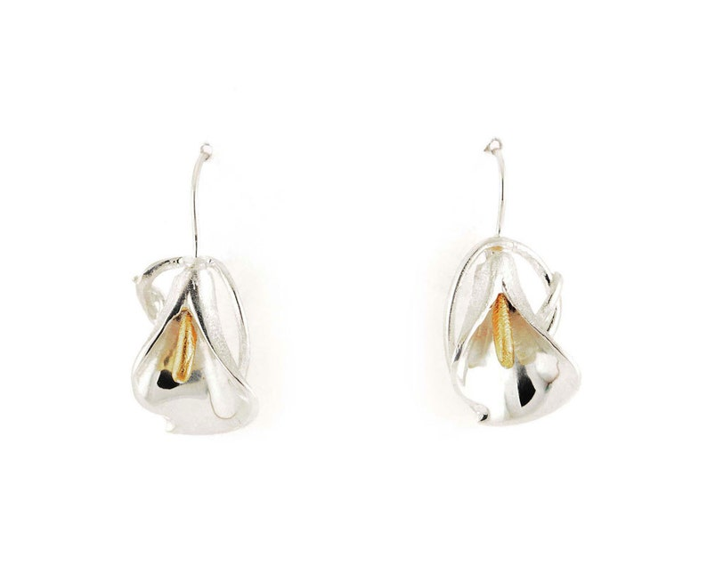 Lyly earrings calla flower calla lily calla lilies flower image 0