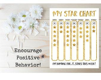 kids star chart printable kids star chart behavior chart for children chore chart printable reward chart childrens printable