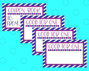 Printable Coupons - Coupon Book for Husband - Coupon Book for Him - Coupon Book for Boyfriend - Coupon Book for Kids - Last Minute Gift