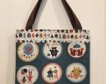 Autumn Forest Creatures Book Bag Tote