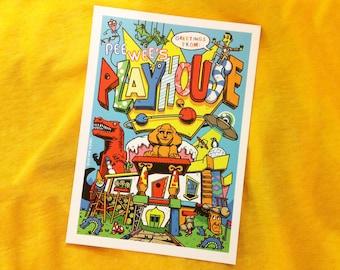 Pee Wee's Playhouse Postcard