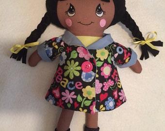 Little Hippie Chick Doll